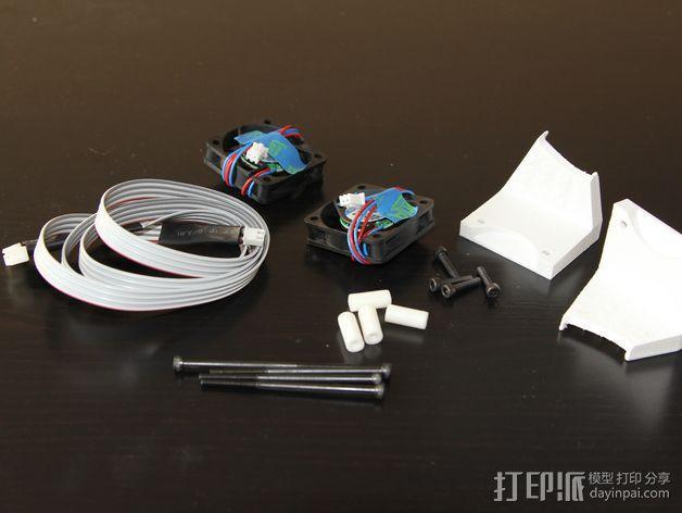 打印机风扇架 3D模型  图9