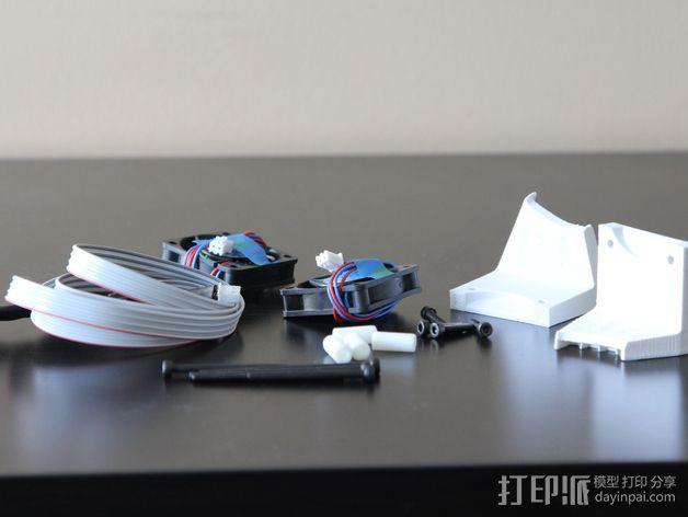 打印机风扇架 3D模型  图11