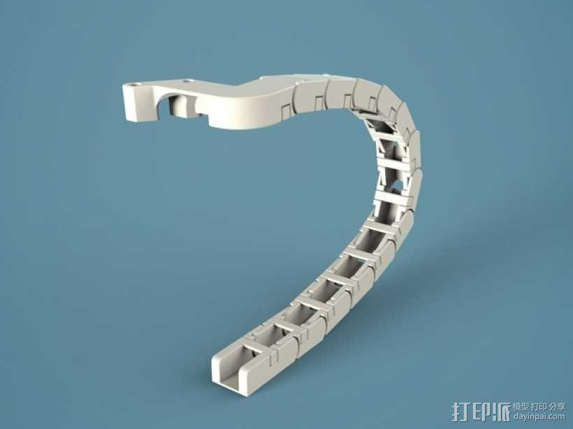 Ultimaker2 打印机锚链 3D模型  图1