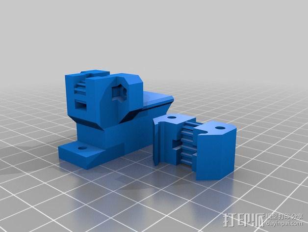 Prusa i3打印机Y轴皮带张紧器 3D模型  图3