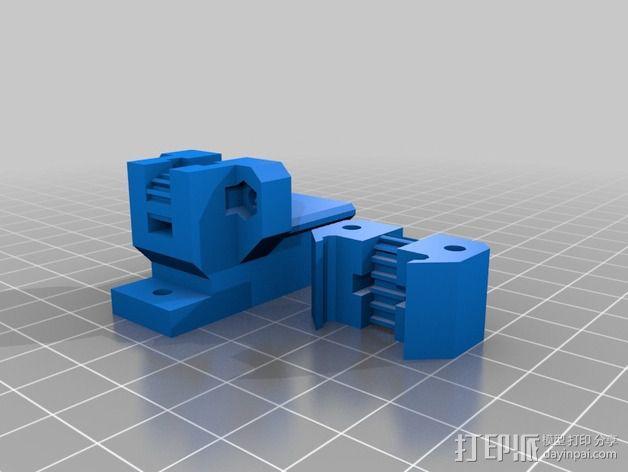 Prusa i3打印机Y轴皮带张紧器 3D模型  图4