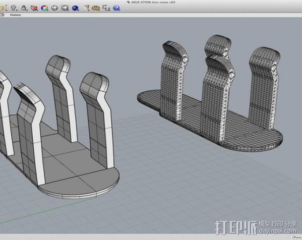 3D扫描仪手柄 镜头盖 3D模型  图14