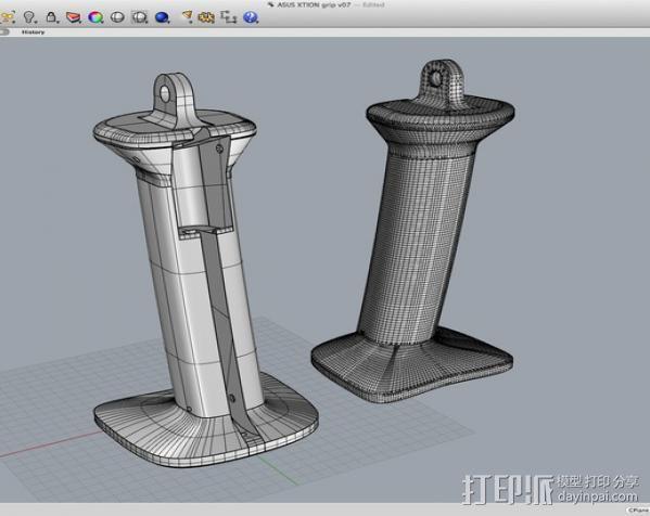 3D扫描仪手柄 镜头盖 3D模型  图13