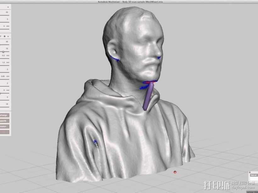 3D扫描仪手柄 镜头盖 3D模型  图17