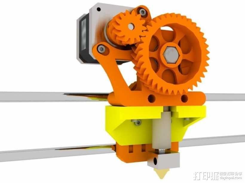 挤出机适配器 3D模型  图1