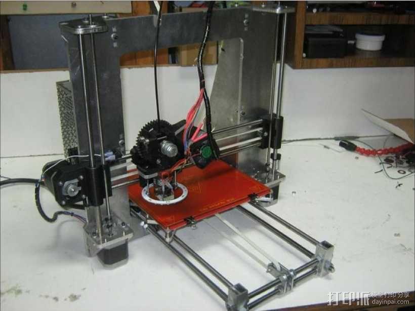prusa i3打印机铝制框架 3D模型  图1