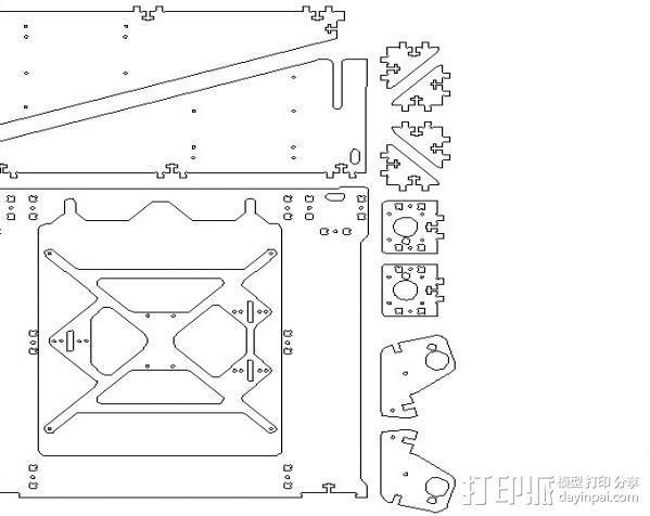 prusa i3打印机铝制框架 3D模型  图5