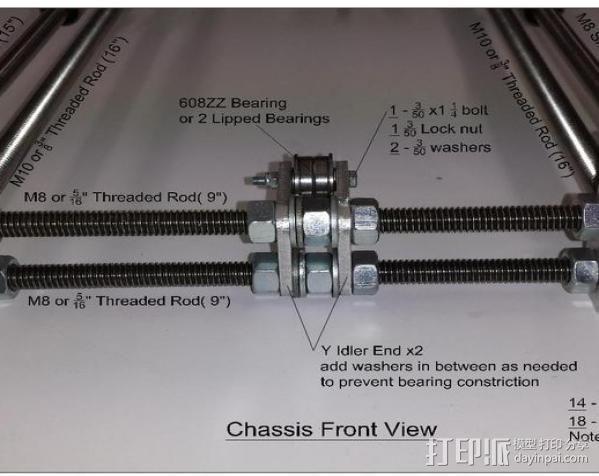 prusa i3打印机铝制框架 3D模型  图15