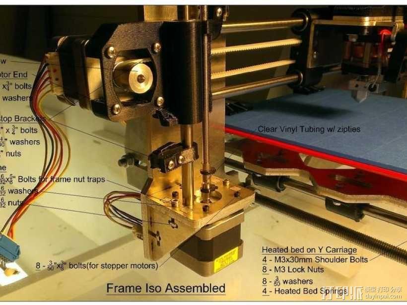 prusa i3打印机铝制框架 3D模型  图19