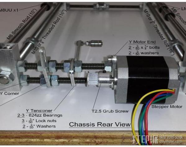 prusa i3打印机铝制框架 3D模型  图16