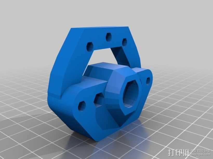 Rich's Bowden 齿轮挤出机 3D模型  图2