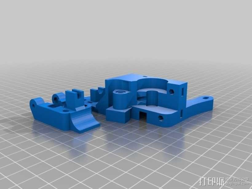 Rich's Bowden 齿轮挤出机 3D模型  图3