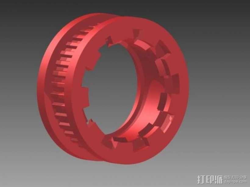 皮带滑轮 3D模型  图2