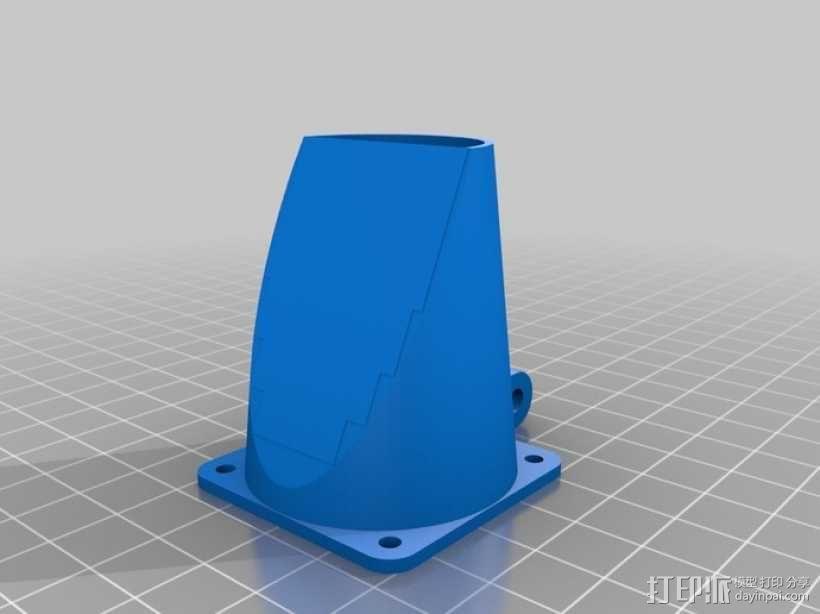 可调节的风扇座 通风导管 3D模型  图1
