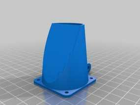 可调节的风扇座 通风导管 3D模型