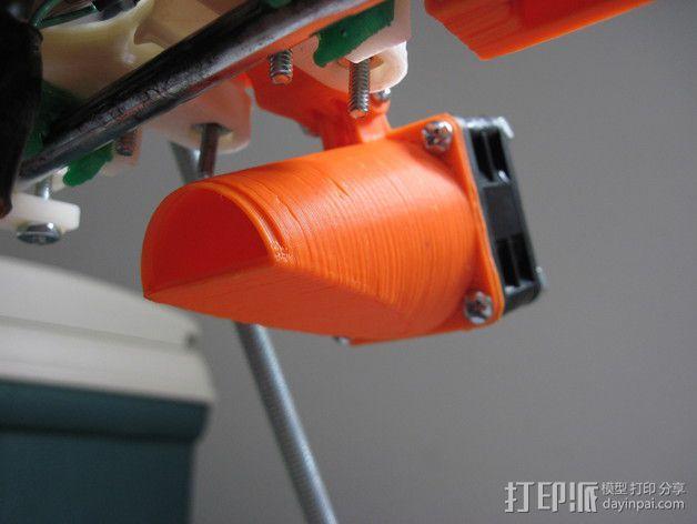 可调节的风扇座 通风导管 3D模型  图3