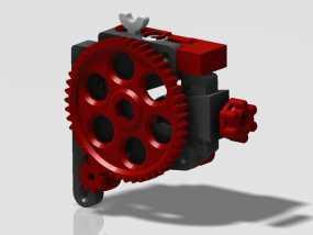 挤出机 3D模型