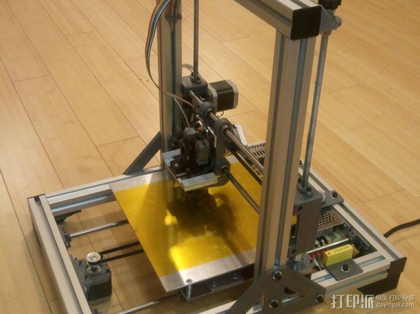 铝制Mendel打印机 3D模型  图1