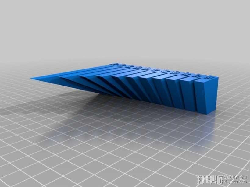 垂悬打印测试 3D模型  图1