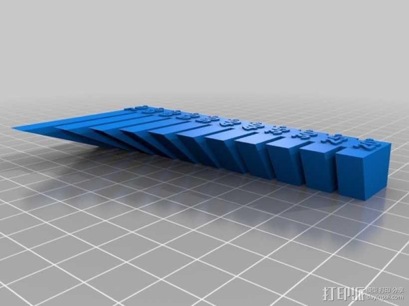 垂悬打印测试 3D模型  图2