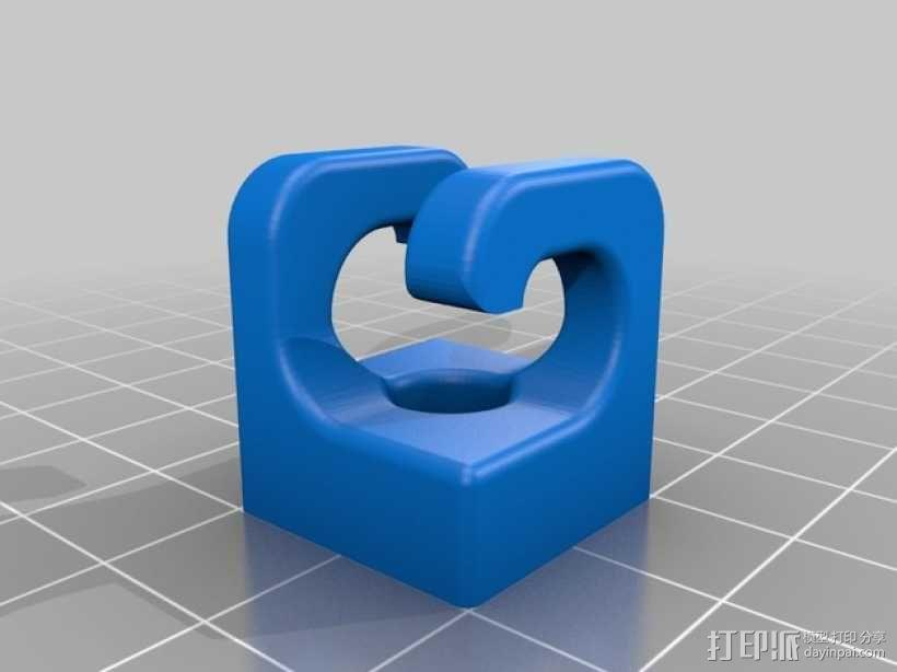 Kossel 800打印机显示屏外框 3D模型  图2