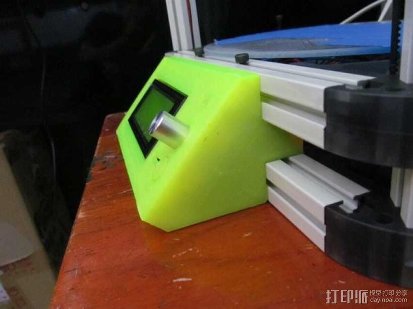 Kossel 800打印机显示屏外框 3D模型  图1
