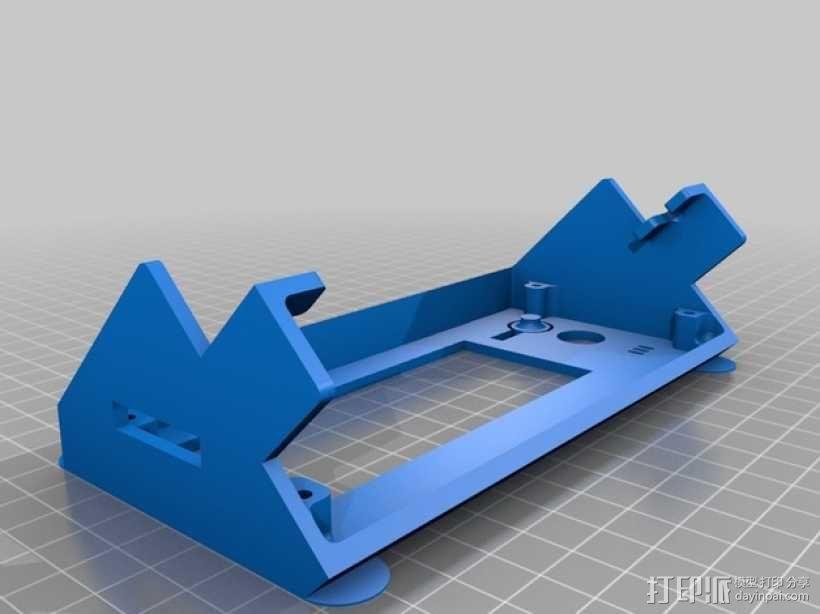 Kossel 800打印机显示屏外框 3D模型  图3
