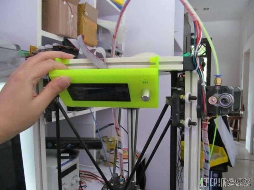 Kossel 800打印机显示屏外框 3D模型  图4