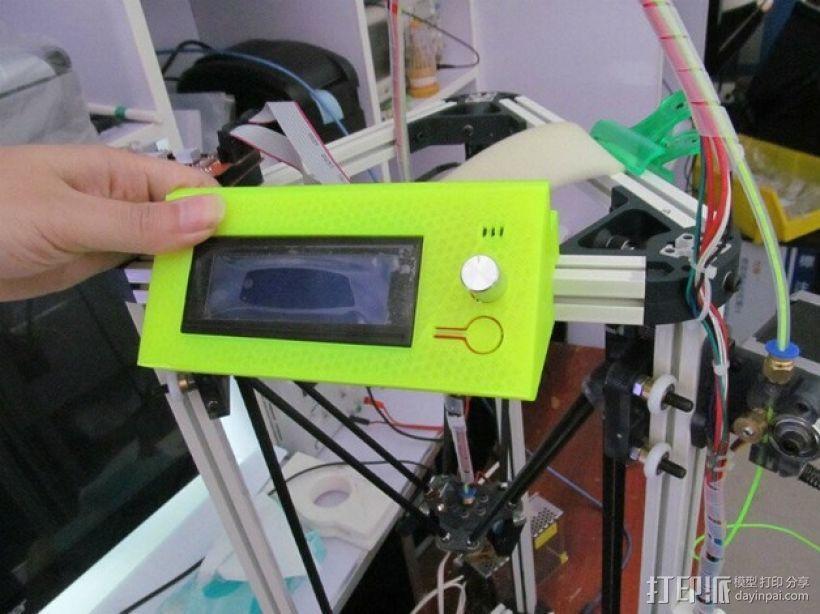 Kossel 800打印机显示屏外框 3D模型  图8