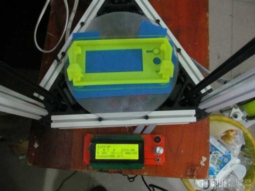 Kossel 800打印机显示屏外框 3D模型  图14
