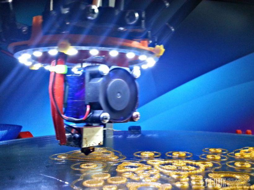 Rostock MAX / Orion打印机LED环 3D模型  图1