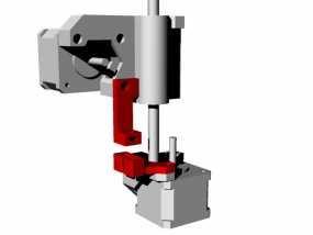 打印机的机械限位开关 3D模型