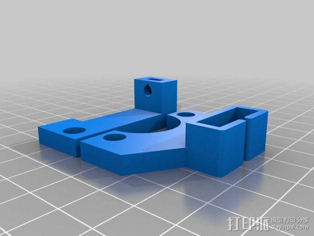 打印机的机械限位开关 3D模型  图2