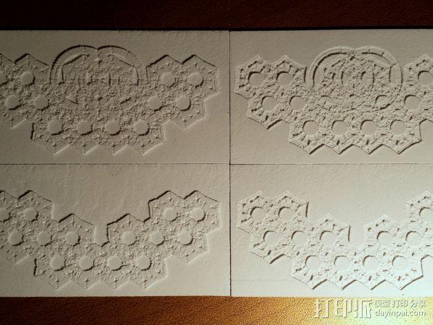 六角星透光浮雕板 3D模型  图7