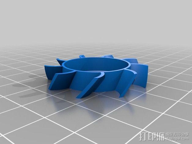 replicator 2打印机风扇 3D模型  图2