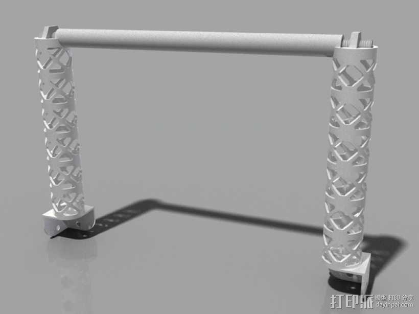 Replicator 2打印机线轴桁架 3D模型  图1