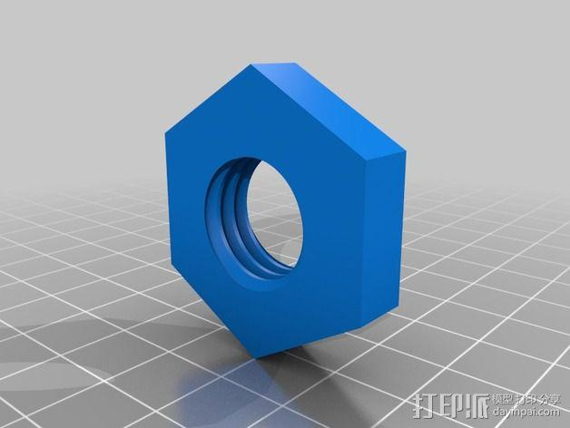 Replicator 2打印机线轴桁架 3D模型  图2