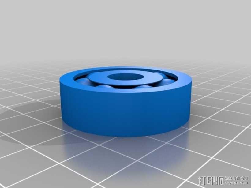 轴承 滚珠轴承 3D模型  图1