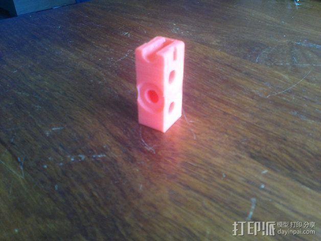 Prusa i3打印机Y轴连接器 3D模型  图3