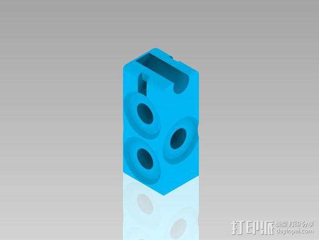 Prusa i3打印机Y轴连接器 3D模型  图1