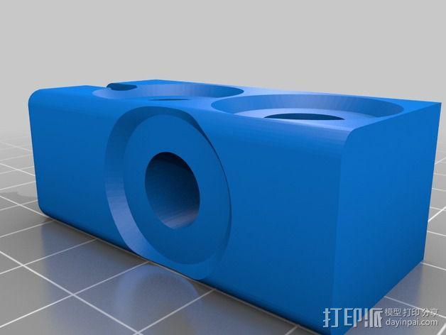 Prusa i3打印机Y轴连接器 3D模型  图2