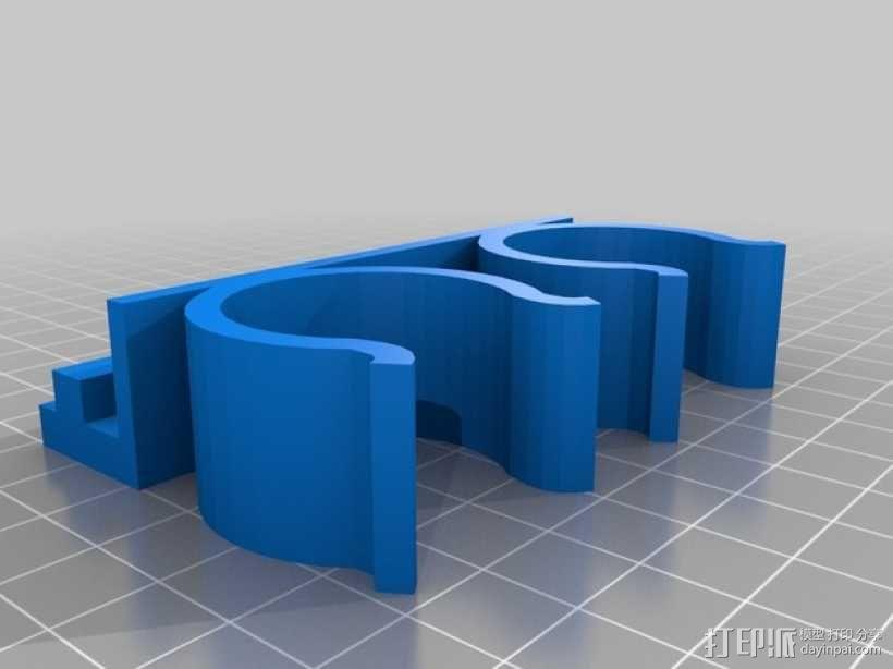 打印机固体胶置放架 3D模型  图2