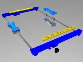 打印机Y轴光杆  3D模型