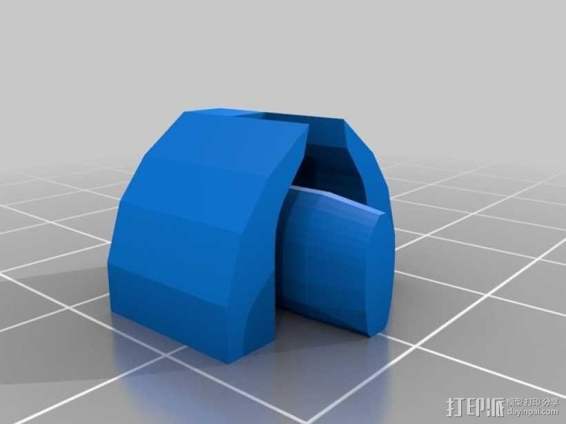打印机Y轴光杆  3D模型  图6