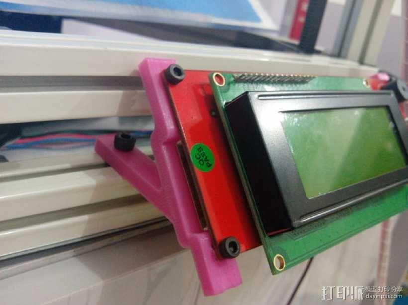 Kossel mini (K800) 打印机显示屏支架 3D模型  图1