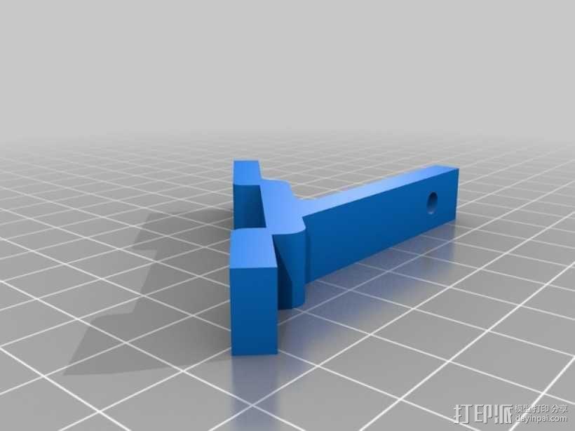 Kossel mini (K800) 打印机显示屏支架 3D模型  图2