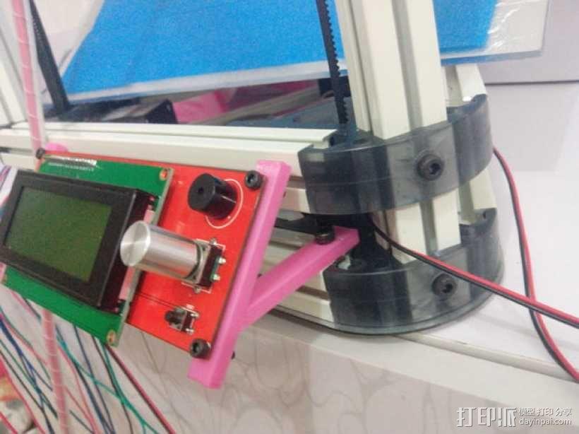 Kossel mini (K800) 打印机显示屏支架 3D模型  图4
