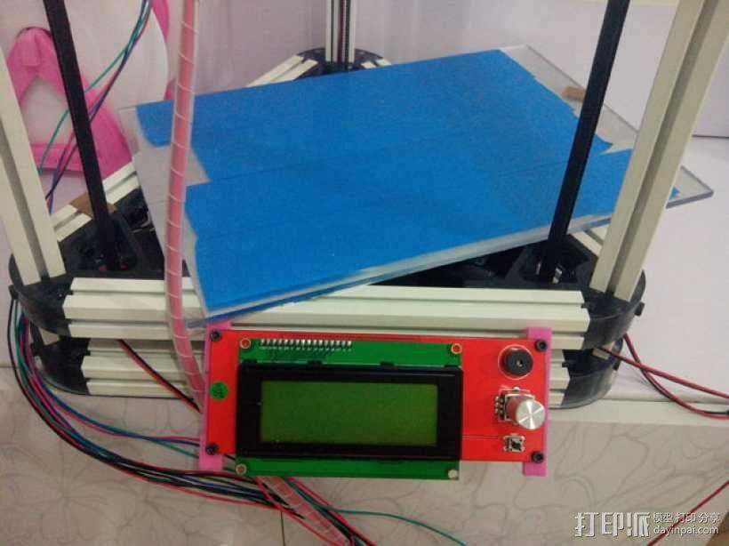 Kossel mini (K800) 打印机显示屏支架 3D模型  图5