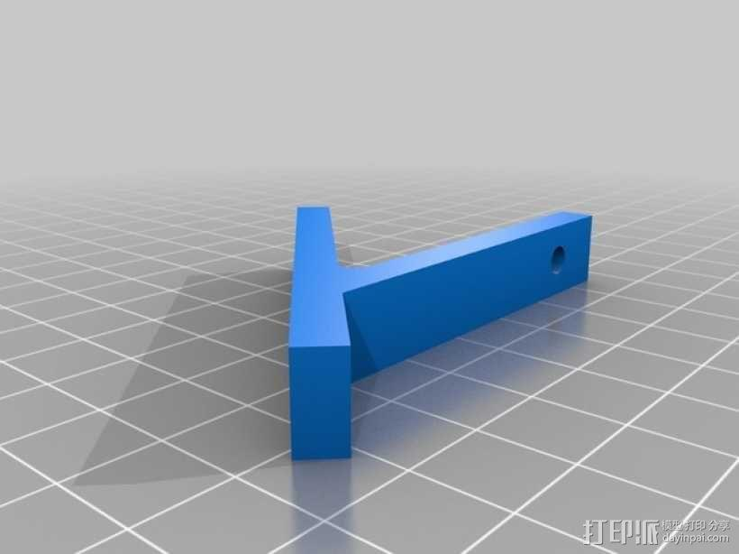 Kossel mini (K800) 打印机显示屏支架 3D模型  图3