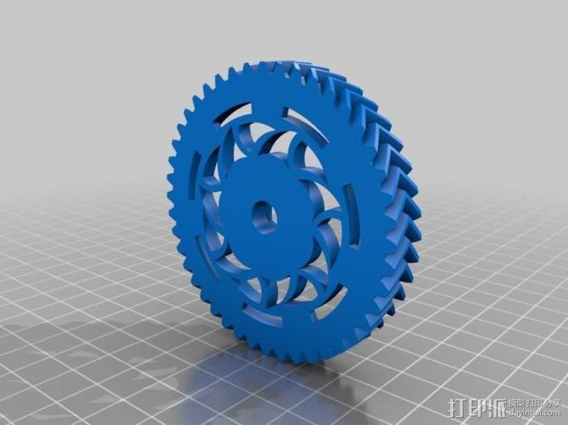 挤出机齿轮 3D模型  图4
